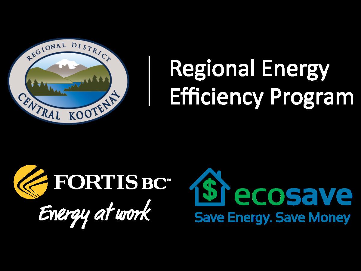 RDCK, FortisBC and EcoSave Logo's
